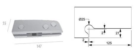 ALP-1103: Dobradiça Inferior p/ Mola AL
