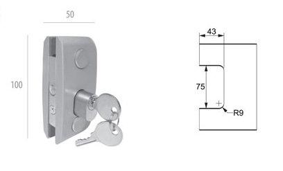 ALP-1520: Fechadura p/ Porta de Abrir AL