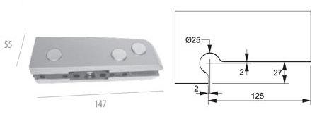 ALP-1103A: Dobradiça Inferior c/ Regulagem AL