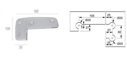 ALP-1209: Facão Simples em Polímero AL