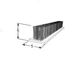 FIT-201: Escova de Vedação 5 x 5 mm V. Brasil