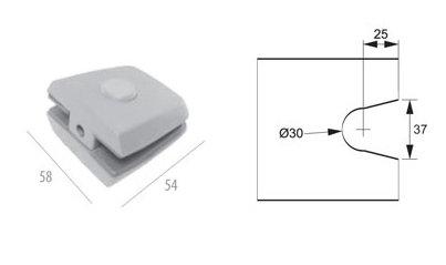 ALP-1230: Suporte p/ Basculante e Pivot Pequeno AL