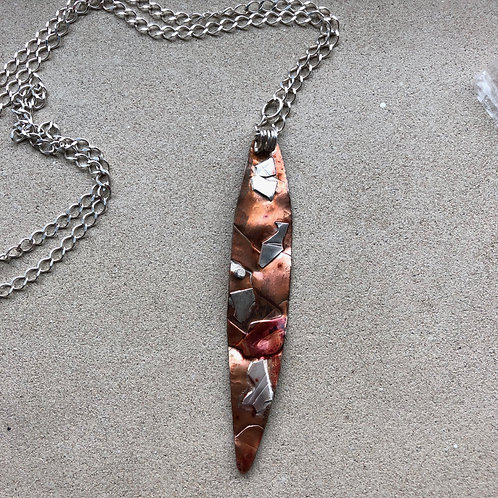 Copper and Sterling Necklace with a Twist