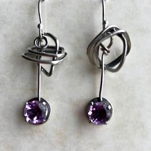 A Twist of Amethyst - Earrings