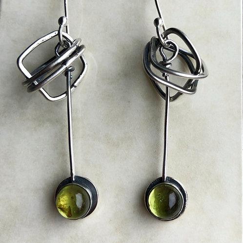 A Twist of Peridot - Earrings
