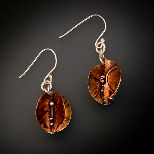 Copper Shaped and Reshaped - Earrings