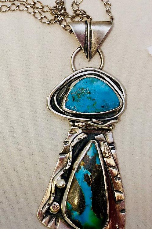 Double Set Tourquoise Necklace