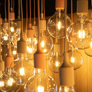 Full electrical installation including bespoke light fitting designed by RPA comprising 42 individual lamps