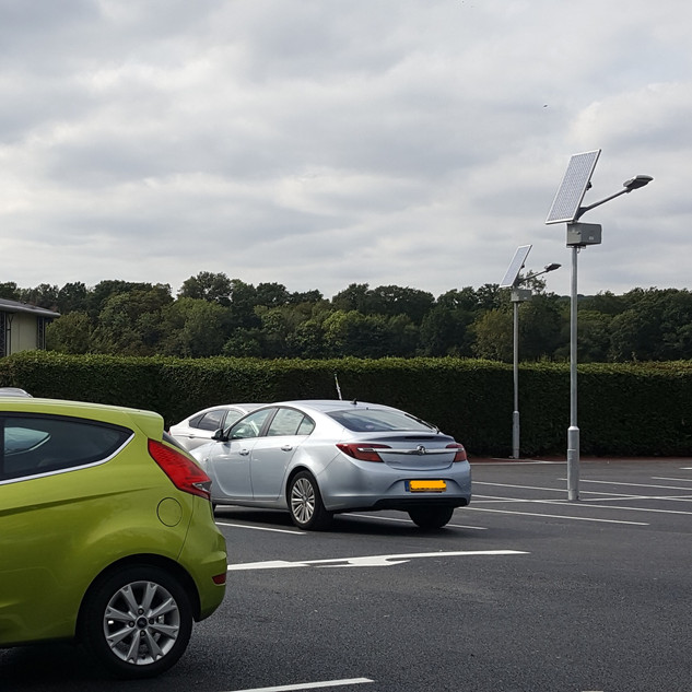 Full lighting design to light carpark to 3 lux with good coverage, specification and installation. System will enable intelligent operations of lights to conserve battery power