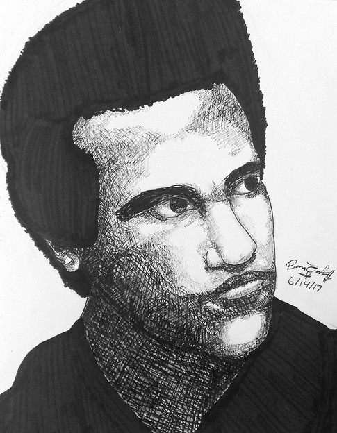 Huey P. Newton-Co-Founder of the Black Panther Party for Self-Defense