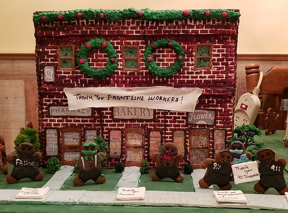 2020 GBD Gingerbread-Smackdown - People's Choice - Favorite COVID Theme Award - Front Line Workers by Sharon Buckwell