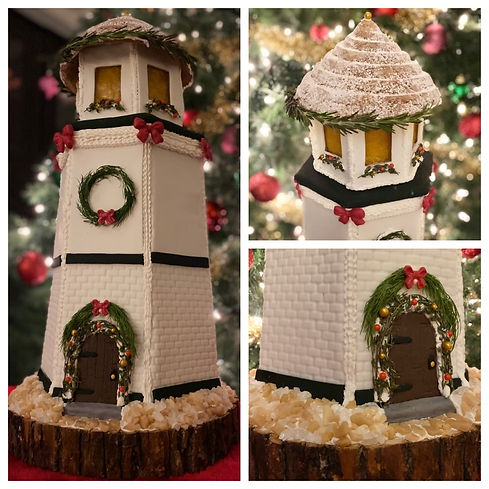 2020 GBD Gingerbread-Smackdown - People's Choice - Favorite Original Gingerbread Award - Holiday Lighthouse by Katherine Carver
