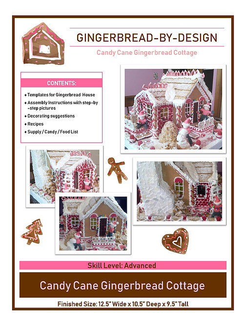 Candy Cane Cottage - pre-printed template