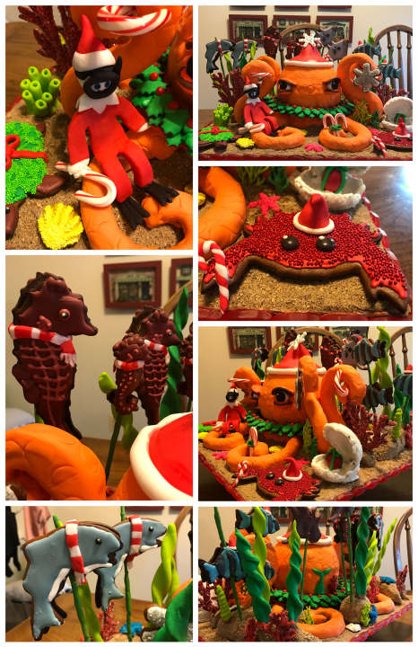 2020 GBD Gingerbread-Smackdown - People's Choice - Favorite Non-Structure Gingerbread Display Award - Christmas Under the Sea by Maryanne Garcia