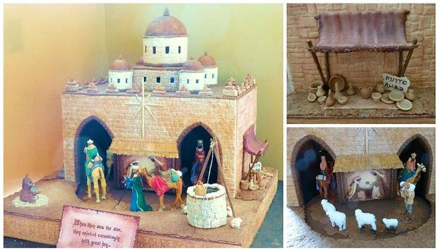 2020 GBD Gingerbread-Smackdown - People's Choice - Favorite Church/Manger Award - Gingerbread Manger Scene by Elizabeth McIntyre
