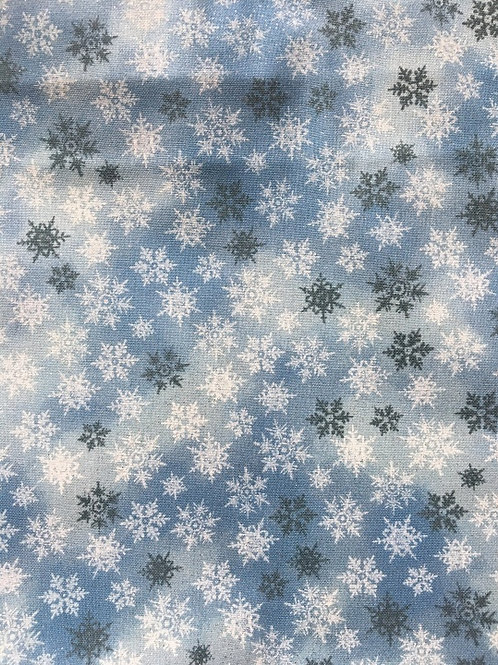 Mask - Blue Christmas Snowflakes