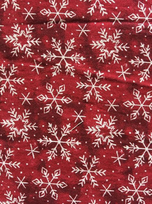 Mask - Dark Red Christmas Snowflakes