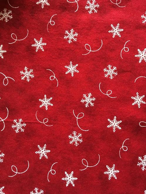 Mask - Red Christmas Snowflakes