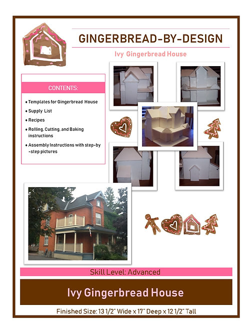 Ivy Gingerbread House - pre-printed template