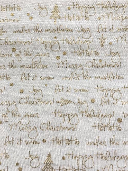 Mask - Joyful Holiday Words