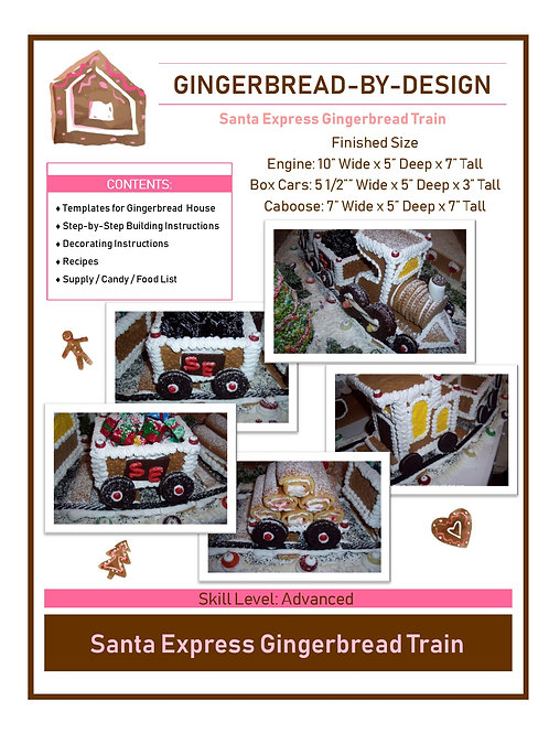 Santa Express Train - pre-printed template