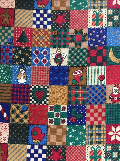 Mask - Christmas Quilt