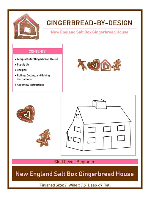 New England Saltbox - pre-printed template
