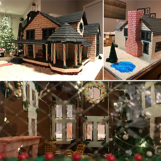2020 GBD Gingerbread-Smackdown - People's Choice - Favorite use of a Gingerbread-By-Design Template Award - Home for the Holidays by Amata Small