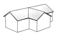 Cross Gable Roof (Gable and Valley)