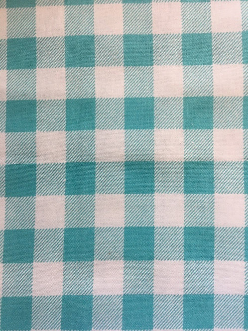 Mask - Turquoise/White Checkered
