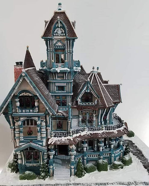 2020 GBD Gingerbread-Smackdown - People's Choice - Favorite Architectural Replication Award - Victorian Christmas by Susan Rogers