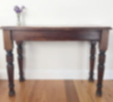 Timber signing table Wollongong Hirer