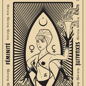 Pussy Coven Tarot Card (front)