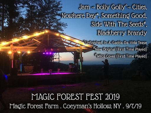 2019-09-07 Magic Forest Fest setlist.jpg