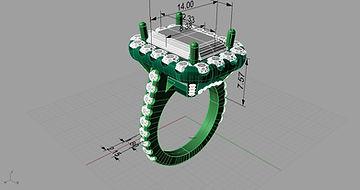7carat engagement ring CAD. Bulow Jewelers