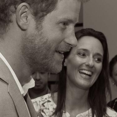 Sonja Piontek with Prince Harry
