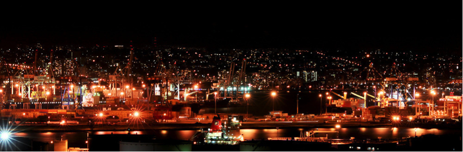 Durban port by Night