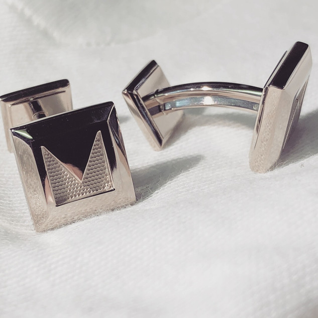 18k Palladium Cufflinks- finished product