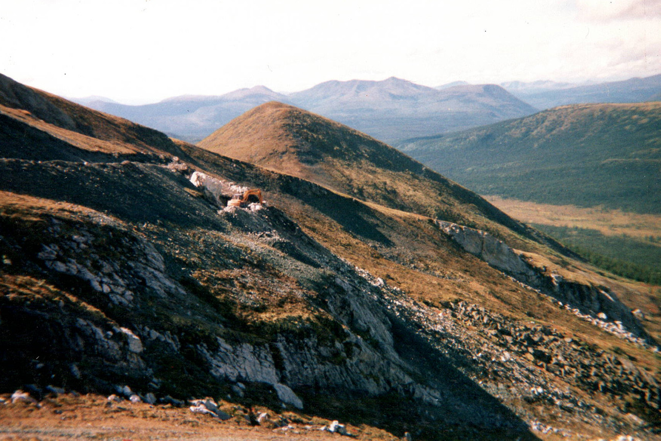 Mountains of the Yukon Territory.