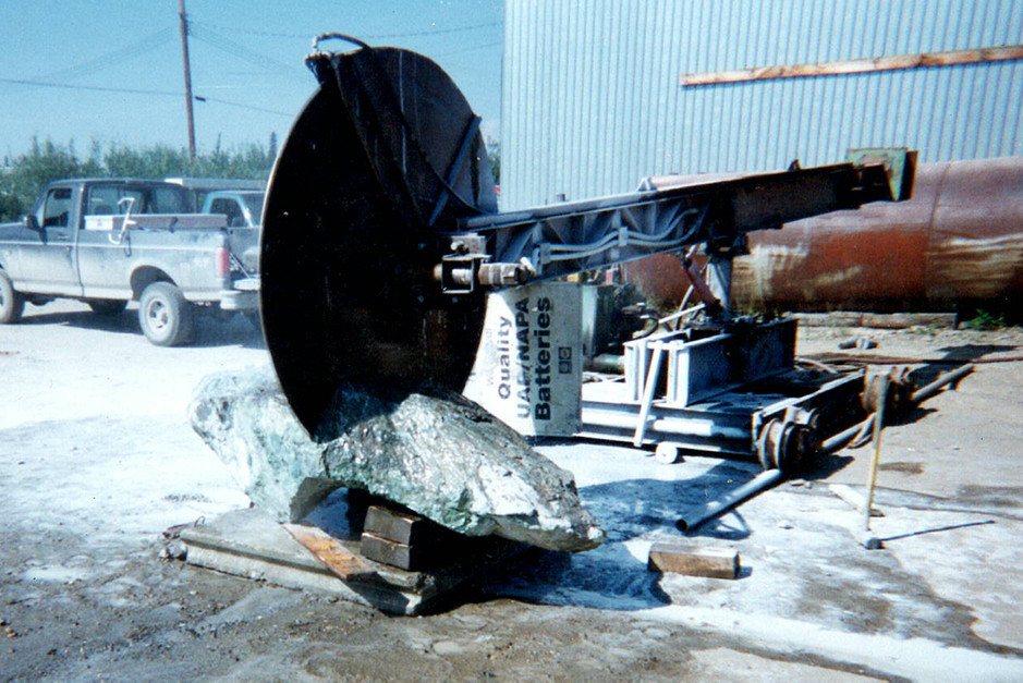 The big saw in action.