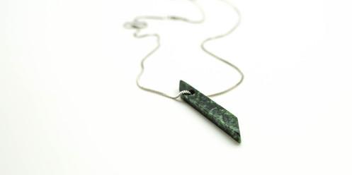 Yukon Jade Speckled Pendant