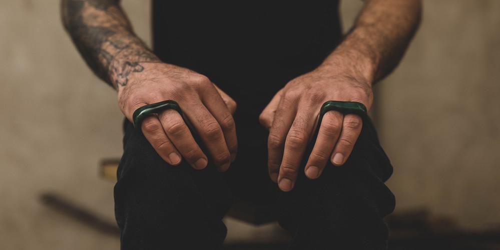 Yukon Jade Double Finger Rings
