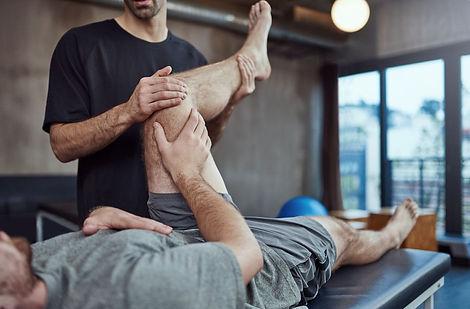 Chiropractor rehabing hip