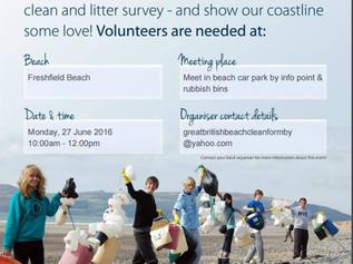 Beachwatch beach clean Formby Beach on Monday 27th June