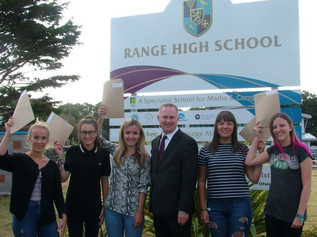 Students at Range High School celebrated a 100% pass rate