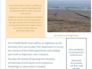 Join CITiZAN at Hightown Submerged Forest to record it's prehistoric past.