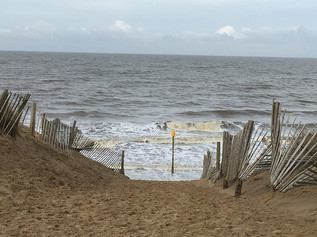 Very High Tide this morning at Formby beach