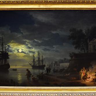 J. Vernet, jeu d'ombre et de lumière.