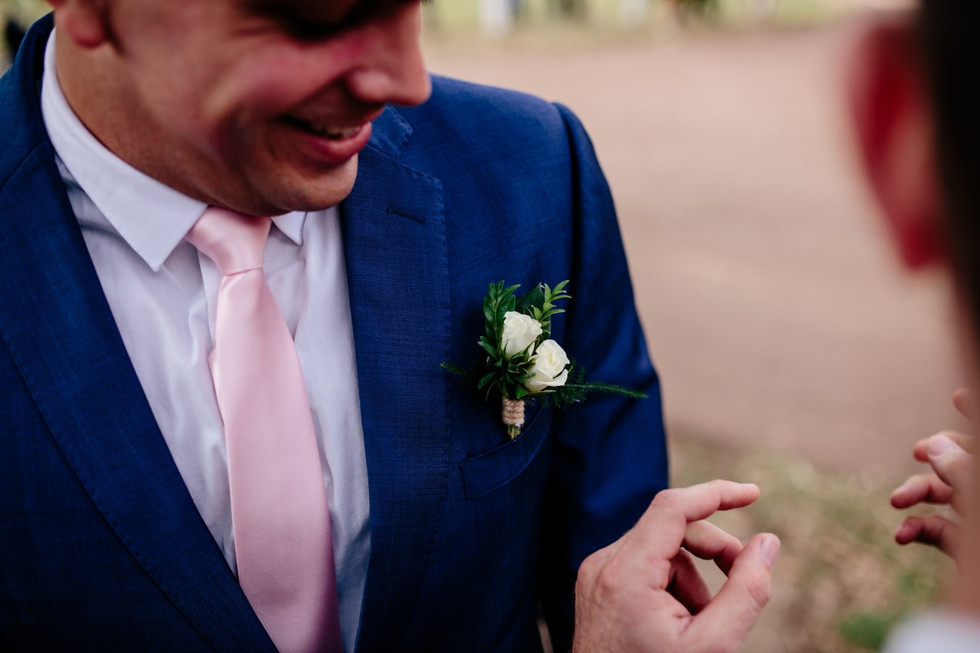 Wedding Buttonhole created by Budding Moments in Perth WA