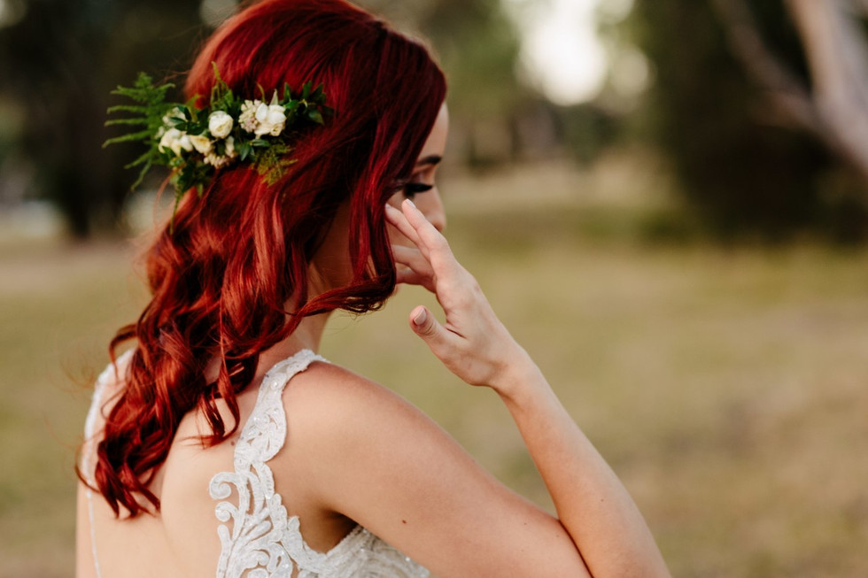 Wedding hair flowers created by Budding Moment
